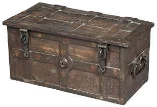 German Wrought-Iron Strongbox