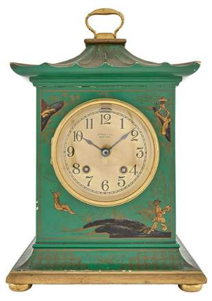 Tiffany & Co. Green and Gold Painted Wood Chinoiserie