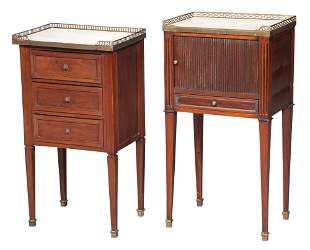 Two Louis XVI Style Mahogany, Gilt-Metal Mounted and