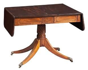 George IV Mahogany and Rosewood Sofa Table