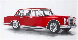 20th/21st Century School Red Mercedes Benz