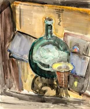 Max Weber American, 1881-1961 Still Life of a Bottle