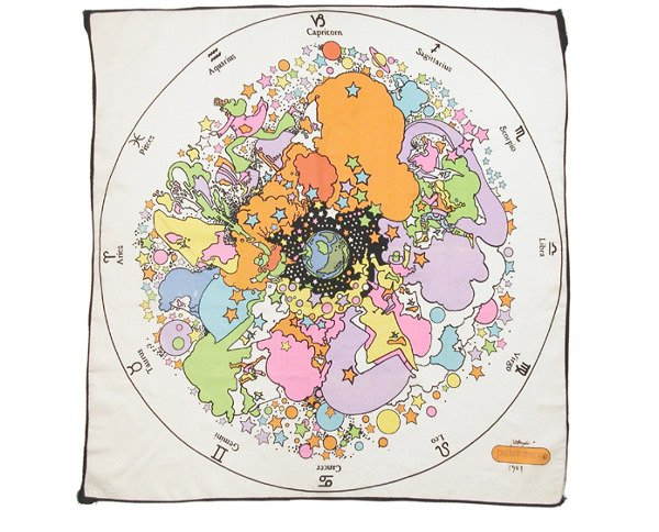 1223: Peter Max Zodiac Scarf