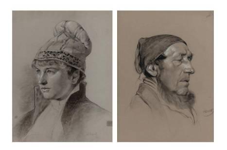 Heinrich Altwirth Austrian, 1868-1904 Portrait of a