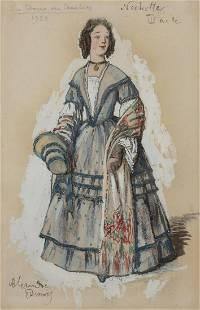Alexandre Nikolaevich Benois Russian, 1870-1960 Costume