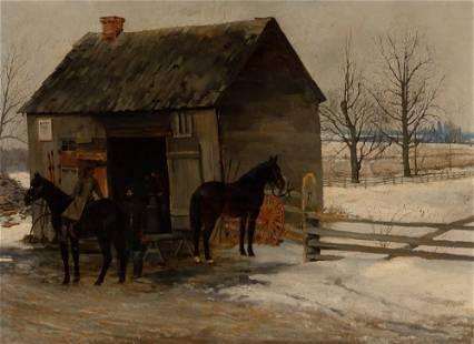 Felix Broessels Dutch or Belgian, 19th Century A Visit