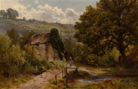 Arthur Bevan Collier British, 1832-1908 Landscape with
