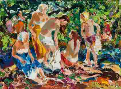 John E. Costigan American, 1888-1972 Bathing Group