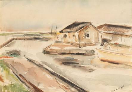 Jose de Creeft Spanish/American, 1884-1992 Boatyard,
