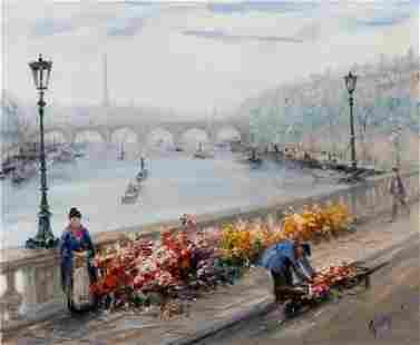 Paul Gagni French, 1893-1962 Le Pont-au-Change