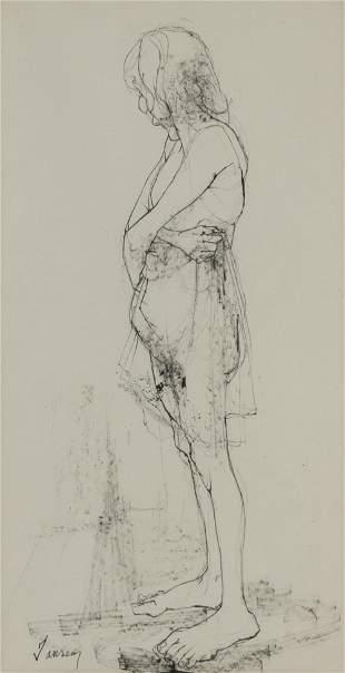 Jean Jansem French, 1920-2013 Etude de Femme (Woman