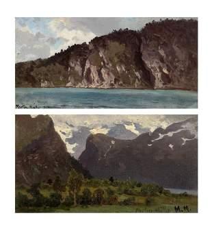 Morten Muller Norwegian, 1828-1911 Romsdalsfjord ved