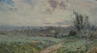 (Benoit) Emile Noirot French, 1853-1924 Landscape, 1900