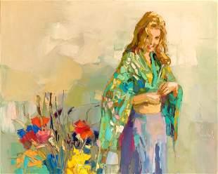 Nicola Simbari Italian, 1927-2012 Young Girl in a