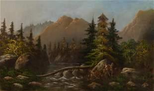 American School Late 19th Century Mountain Landscape