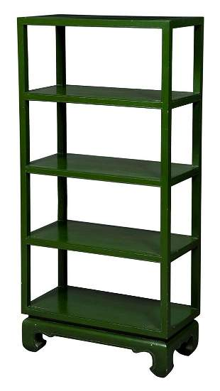 Chinese Style Green-Painted Étagère