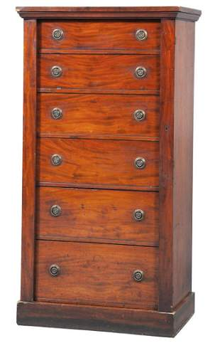 Victorian Mahogany Wellington Chest of Drawers