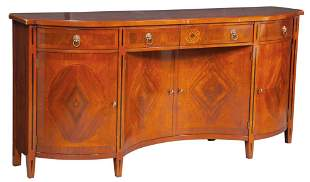 George III Style Mahogany and Marquetry Sideboard
