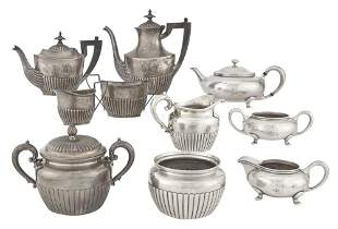 Group of American Sterling Silver Tea Articles