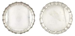 Two American Sterling Silver Trays