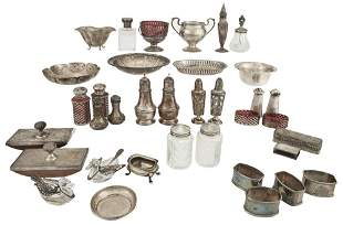 Group of Silver and Silver Plated Small Table Articles