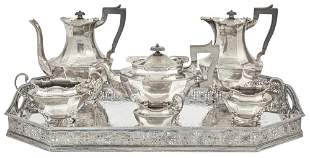 George V Sterling Silver Tea and Coffee Service;