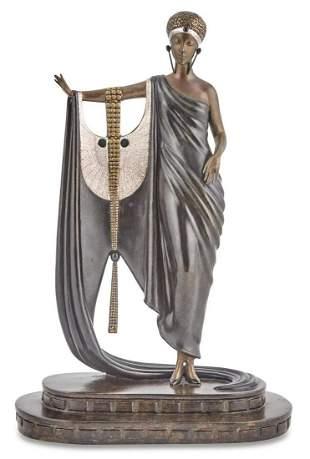 Erté Patinated Bronze Figure of a Lady