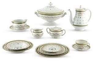 Limoges Vieux Paris Pattern Porcelain Table Service