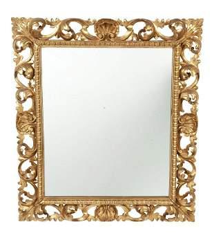 Italian Rococo Style Giltwood Mirror
