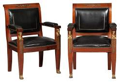 Pair of Empire Style Gilt-Metal Mounted and
