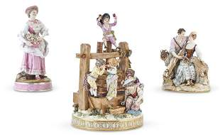 Group of Three Porcelain Figures or Groups