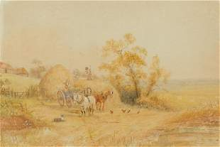 Horace Hammond English, 1842-1926 Haystacks