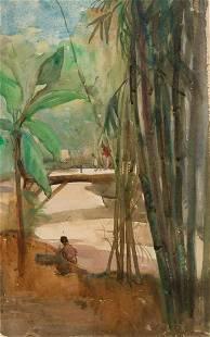 Hilda May Gordon Britsh, 1874-1972 Tree Study, Bali