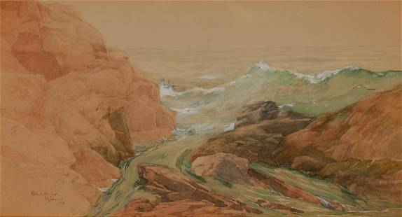 Robert Arthur American, 1850-1914 The Sea at Ogunquit,