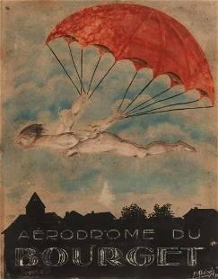 Pierre Abrioux French, 20th Century Passage du Desir