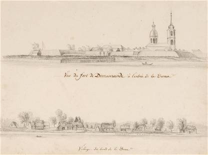 European School The Fort at Dunamunde, at the mouth of