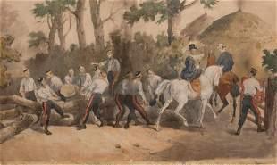 British School 19th Century Men of the Royal Artillery