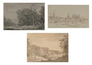 William Marlow British, 1740-1813 Three works