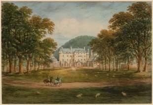 English School 19th Century Traquair House, Peebleshire