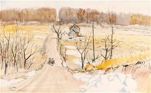 James McBey Scottish, 1883-1959 Whitemarsh, near