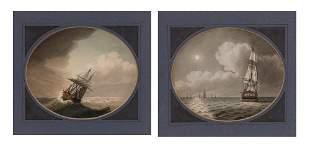 Samuel Atkins English, fl. 1787-1808 Ship in a Storm