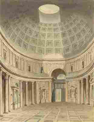 British School 19th Century Interior of the Pantheon,