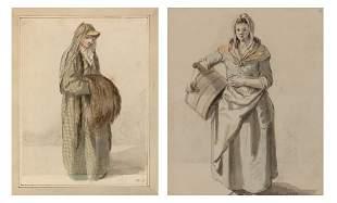 Edward Edwards English, 1738-1806 Woman Carrying a
