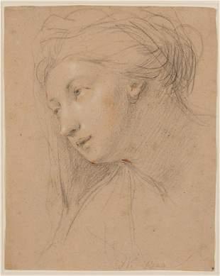 John Vanderbank English, 1694-1739 Head of a Young