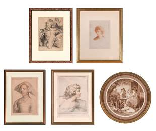Five engravings: After van Dyck INIGO JONES; after