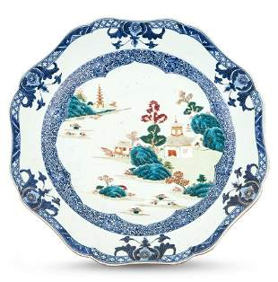 A Chinese Export Porcelain Charger