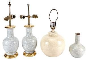 Four Chinese Crackle Glaze Porcelain Vases