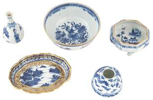 Group of Chinese Small Blue and White Porcelain