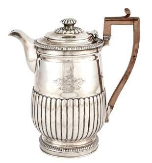 George III Sterling Silver Coffee Jug