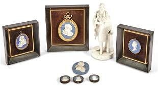 Group of Wedgwood Blue Jasper Articles; Together with